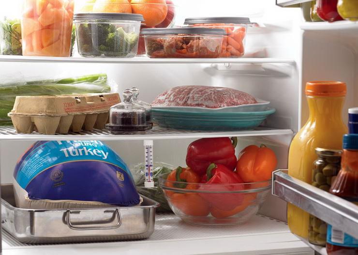 система хранения продуктов в холодильнике