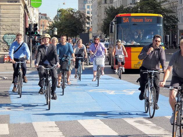 Дания велосипедная страна Копенгаген