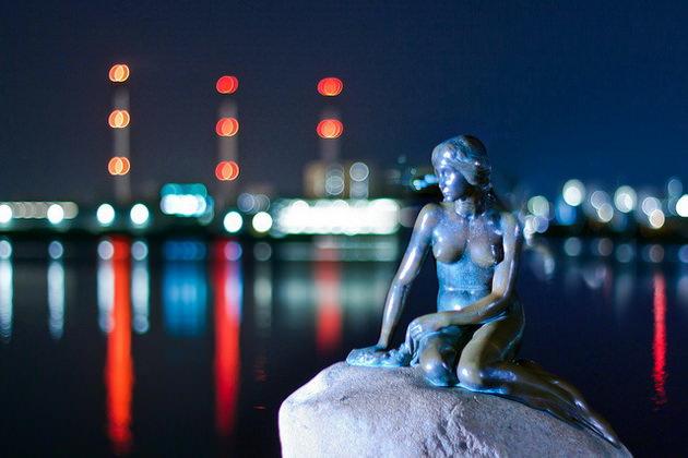 статуя русалочки копенгаген дания