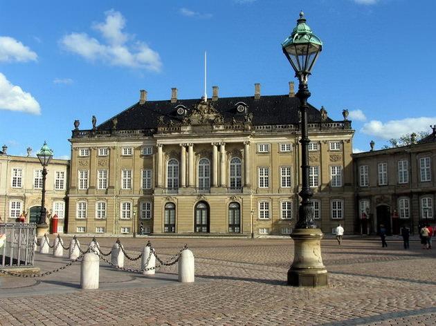 Дворцовый комплекс Амалиенборг Копенгаген Дания
