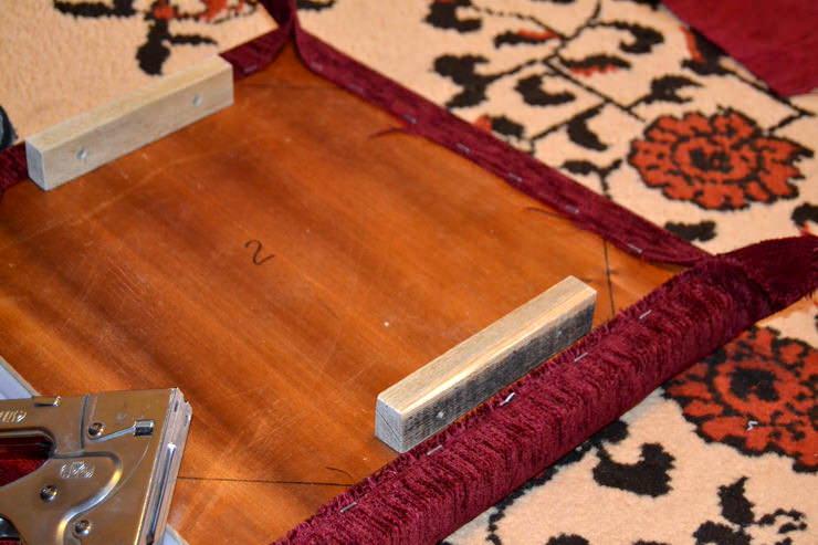 как сделать новую обивку для стула