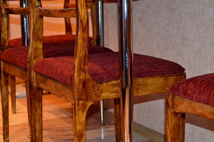 как сделать новую обивку для старых стульев на кухне своими руками