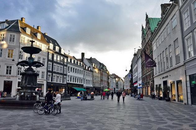 Улица Строгет Копенгаген Дания