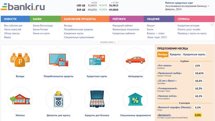 Банки.ру информационный портал