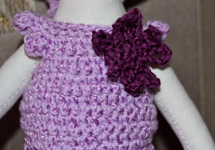 Вязаное крючком платье для Лалалупси