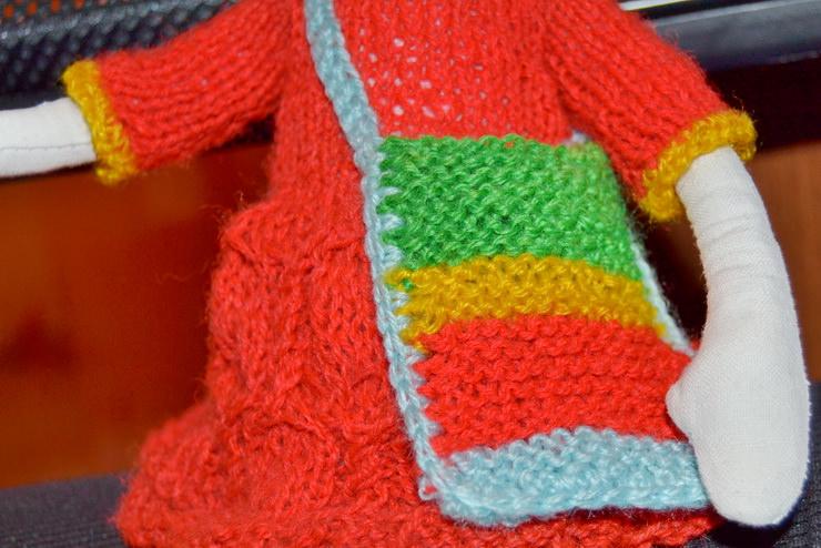 Вязаная спицами сумочка для Лалалупси