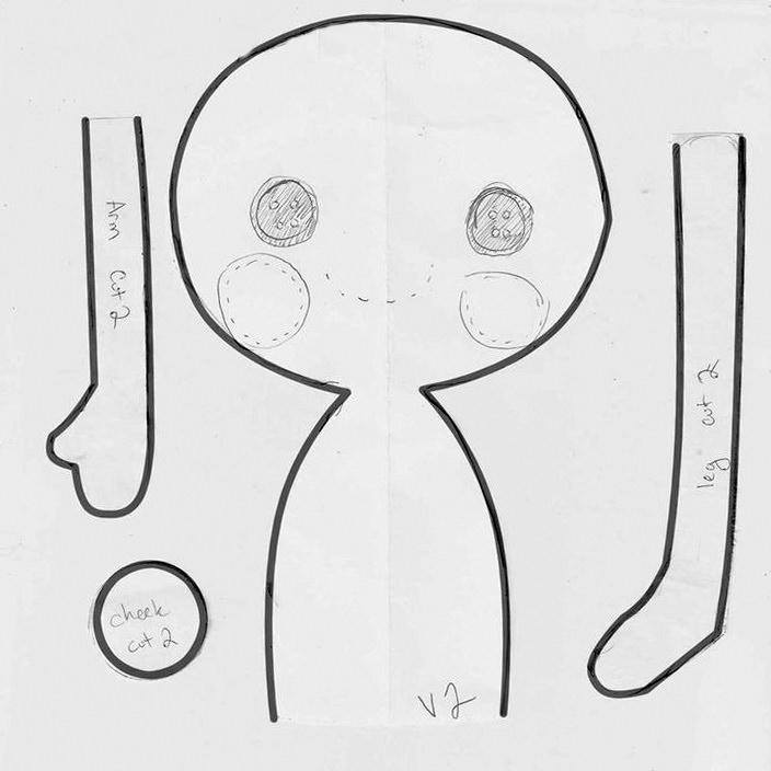 Выкройка куклы Лалалупси