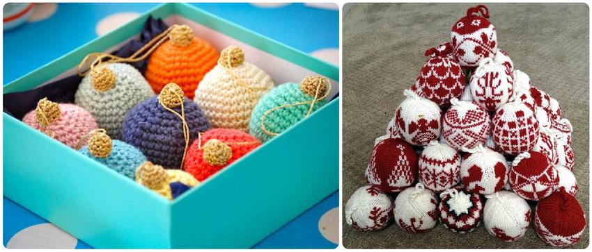 Вязаные елочные шары своими руками для новогоднего дизайна квартиры