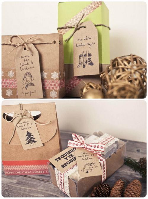 Ярлыки для подарков своими руками