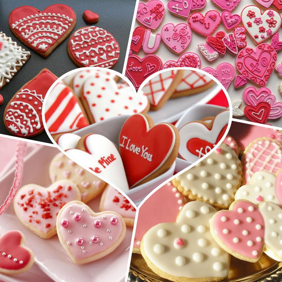 Печенье в видео сердечек на День Святого Валентина