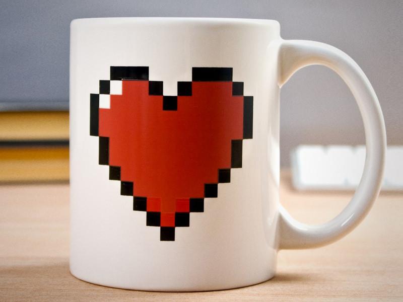 Термочувствительная кружка «Сердце»