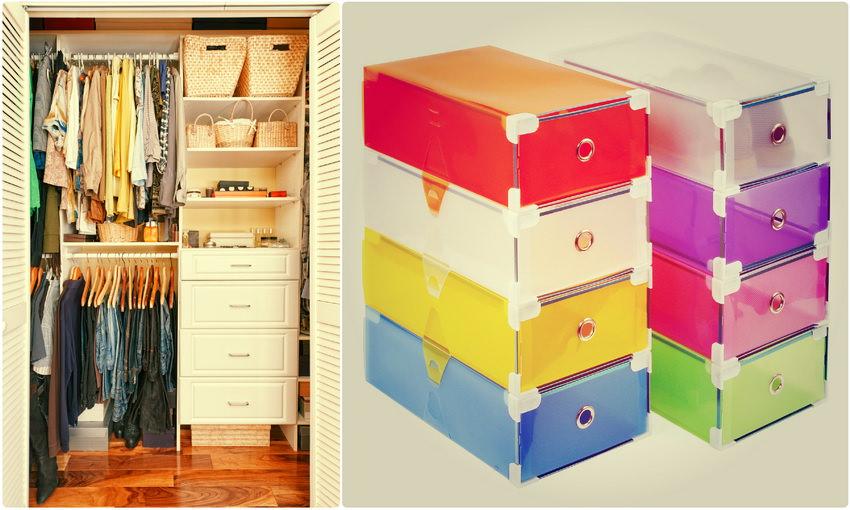 Контейнеры для хранения одежды и обуви