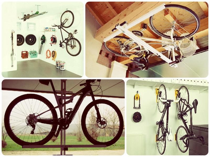 Как закрепить велосипед в гараже