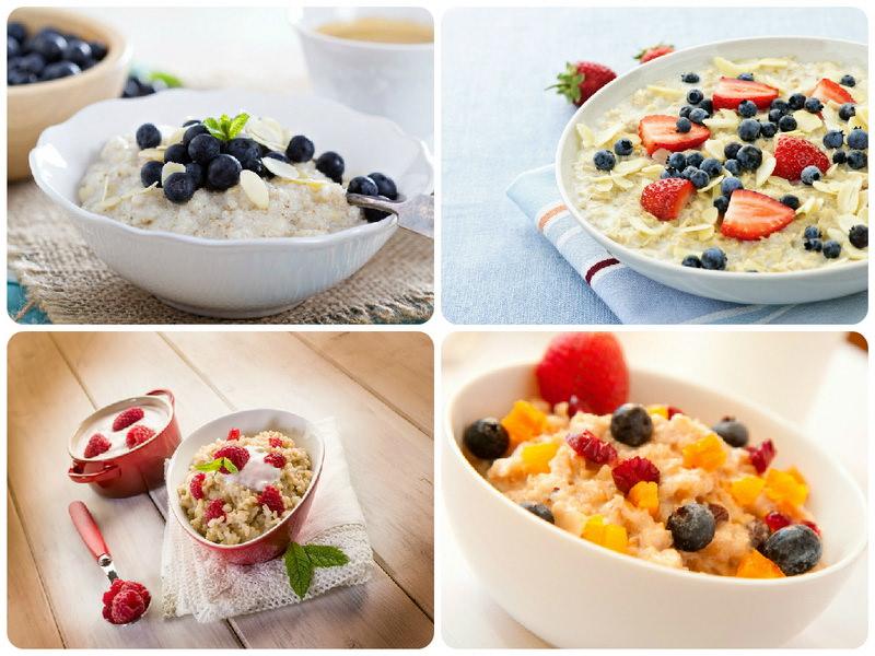 Овсяная каша с фруктами и ягодами