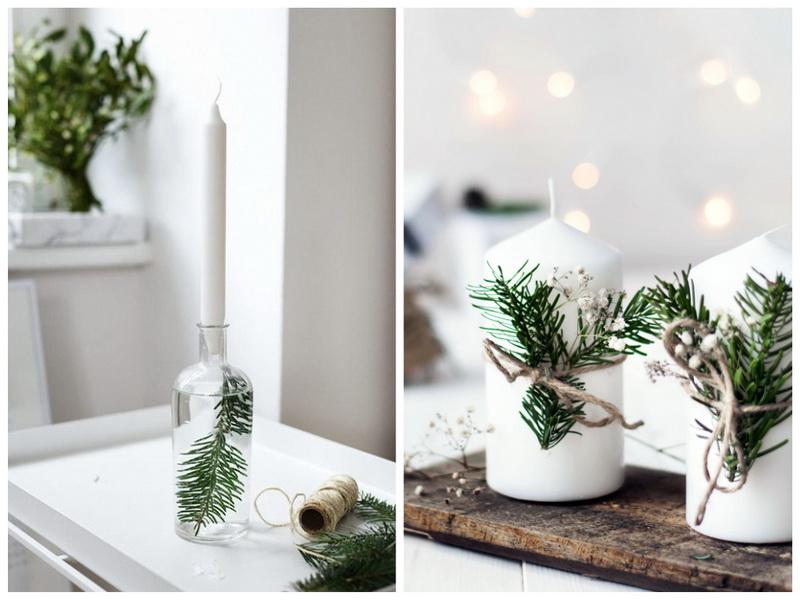 Новогодние свечки в скандинавском стиле