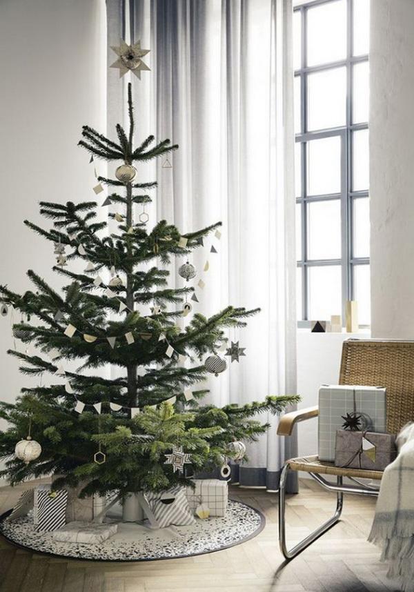 Новогодняя ель в скандинавском стиле