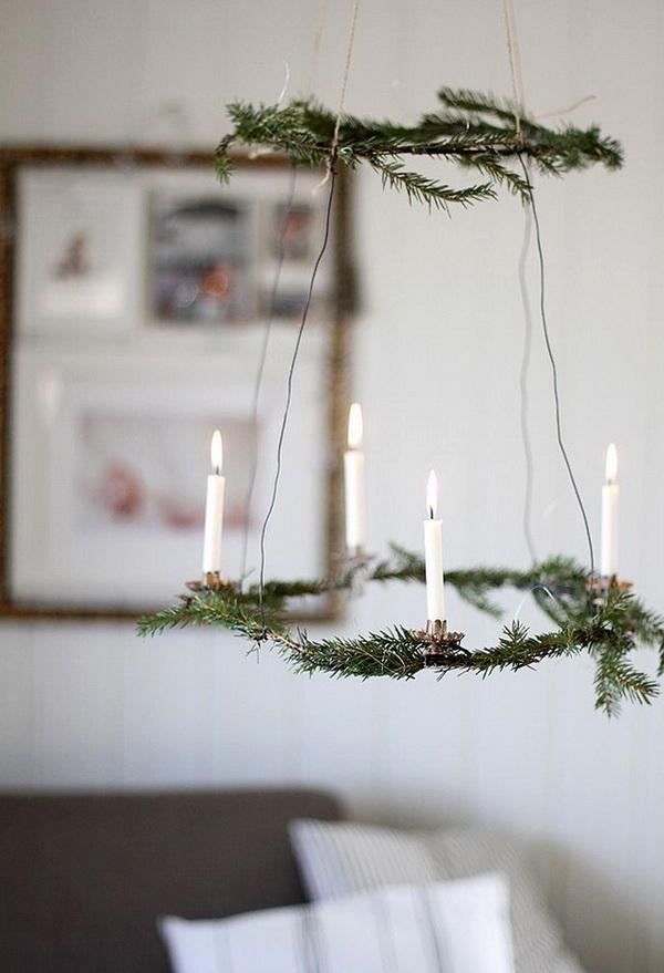 Рождественский венок в скандинавском стиле